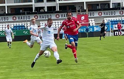 MÅL: Melvin Frithzell scoret NFKs første mål etter 41 minutter.