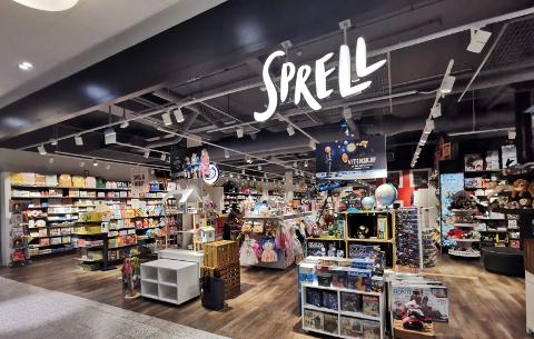 BARNEROMSINTERIØR OG LEKER: Slik ser Sprell-butikkene ut. Her fra CC-Vest.