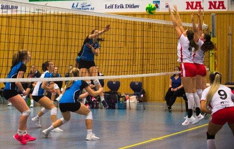 KJEMPET: Liernes volleyballdamer kjempet hardt i møte med OSI, men klarte ikke ta poeng. Her er Maren Moe fra en tidligere kamp.