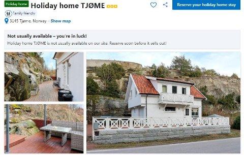 ANNONSERT: Garasjen i Dalsveien annonseres som feriehus til utleie både på Booking.com og Airbnb. Dette er ikke det eneste bygget på Tjøme som er innredet ulovlig og leies ut. Kommunen har i det siste fått flere tips om ulovlige boenheter.
