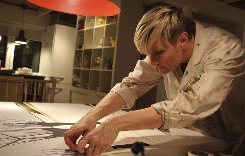 Lise Steingrim: Årets første utstilling på Vanntårnet er med kunstneren Lise Steingrim. Foto: Steinar Knudsen