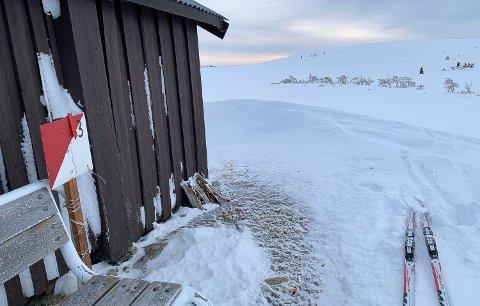 VINTERLYS PÅ GRØNFJELL: Sigrid Kalbækkens bilde fra bua ved Brydalstjønna på veg mot Finstadhøa illustrerer én av de 15 skiorienteringspostene i Tynset.