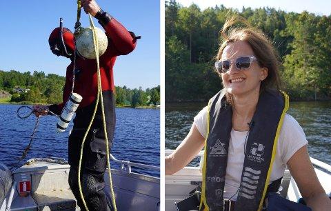 FORSKNINGSPROSJEKT: Caroline Durif forsker på ål i Sandnesfjorden og Lagelva. For to år siden plasserte Durif og Havforskningsinstituttet ut 26 lyttebøyer i området.