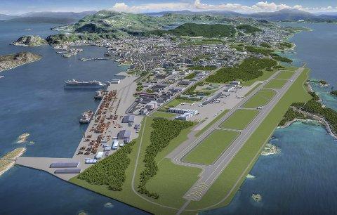 Avgjøres: Ny by – ny flyplass vil i dag kunne få sitt avgjørende gjennombrudd.illustrasjon: Bodø kommune