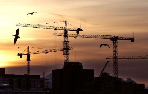 Stor byggevirksomhet i Bodø by. Bystyret får snart en ny høyhussak til behandling.  Foto:Tom Melby