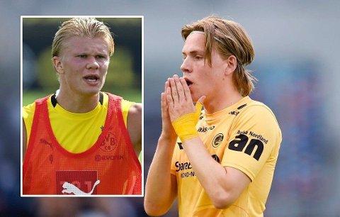 Erling Braut Haaland og Jens Petter Hauge holder kontakten. Førstnevnte har gitt Bodø/Glimt-spilleren råd.