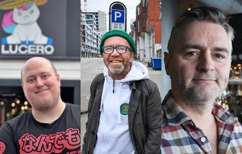 Glenn Berg (Lucero), Bent Lindahl (Dama Di) og Nico Kristiansen (Public) har alle måttet si nei til folk etter klokken 12.