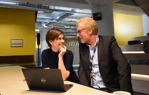 Distriktsredaktør Dyveke Buanes og regionredaktør Kai Aage Pedersen  NRK Vestlandsrevyen