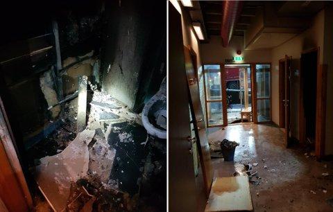 Mannen fra Elverum er nå dømt for å ha satt fyr på et toalett på Årstad videregående skole.