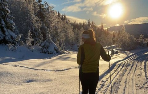 Det var gode snøforhold i langrennsløypene på Voss fredag.