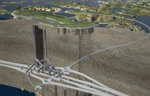 Kvitsøytunnelen: Slik blir tunnelarmen som skal knytte Kvitsøy til fastlandet.