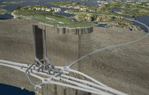 Kvitsøytunnelen som vil knytte Kvitsøy til fastlandet.