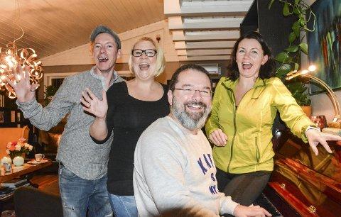 SA JA: Dan Are Lykke Larsen (t.v.) og Kirsti Haugan Laupet stiller som humorvikarer. Dermed kan Anne Kat. Håskjold (t.h.), Runar Wam og de andre «wannabeene» puste lettet ut.