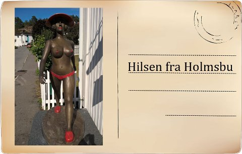 HEVET HODE: En ny badegjest har inntatt Holmbu og nå kan hun bli din.