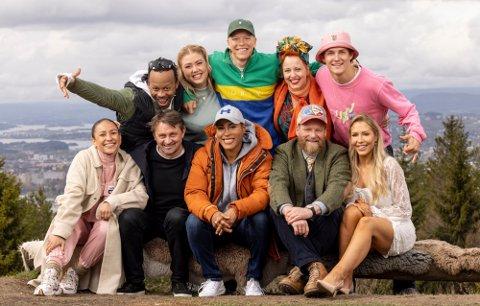 TURKLARE: Disse ti kjendisene skal legge ut på en tøff tur fra Lindesnes til Nordkapp. Foto: Morten Bendiksen
