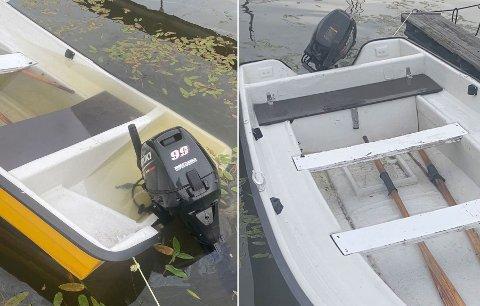 APP-HJELP: Båten i Øyeren holdt på å synke, men takket være brukere av appen Saver løste problemet seg raskt.