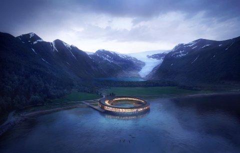 SPAREPENGAR: I dette hotellet, som eigedomsutviklar-selskapet Miris planlegg ved Svartisen, kan sunnfjordingar og andre plassere sparepengane sine.