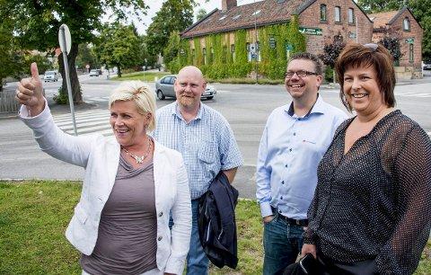 Reddes av oljefond: Før valget i 2013 var Siv Jensen på Fredrikstad-besøk. Da pekte de økonomiske pilene oppover. Nå skal hun bruke 194 milliarder oljekroner for å få vekst. Arkivfoto: Erik Hagen