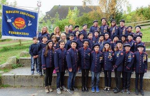 NØKLEBY SKOLEKORPS: Korpset til disse musikantene feirer sine 60 år med jubileumskonsert på søndag.