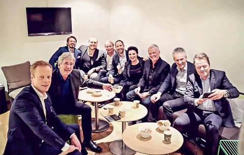 Moro: Stian Thorbjørnsen hadde det gøy på bakrommet med folk fra «Senkveld», «Gutta på tur», «Åndenes Makt» og «Paradise Hotel».