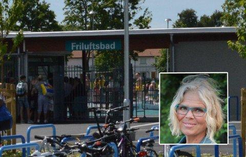 Misfornøyd: Vibeke Bjerkeholt Killi var ikke veldig fornøyd med behandlingen hun fikk ved Kongstenbadet fredag. Nå lover kommunen å vurdere tiltak.