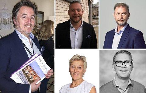 Ole Petter Arnesen, Dag Thomas Svendsen, Morten E. Stene, Kari Mette Wernersen og Jens August Larsen hadde alle millionlønninger i fjor.