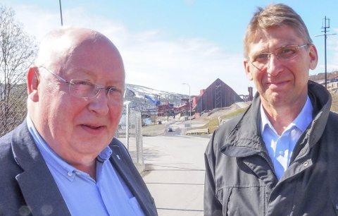 Nødvendighet som gir muligheter: Et dobbeltspor mellom Kiruna og Narvik er ikke bare nødvendig for LKAB og norsk oppdrettsnæring. Det vil også åpne opp nye muligheter, mener informasjonsdirektør Bo Krogvig og administrerende direktør, Jan Mostrøm i LKAB. I et notat beskriver LKAB sammen med flere andre store industriaktører blant annet hvorden det kan tenkes rundt finansieringen av et dobbeltspor.Foto: Terje Næsje