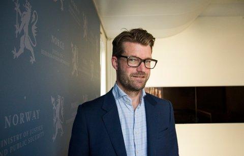 LOKAL: Avdelingsdirektør i Justisdepartementet, Jostein Haug Solberg, opprinnelige fra Nykirke, er på saken om sammenslåtte tingretter i Vestfold.