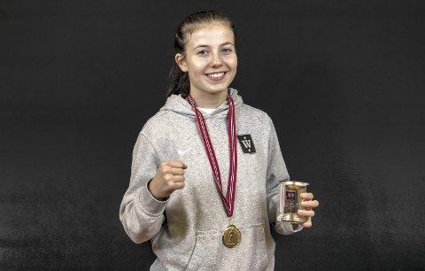 BOKSING: Anabelle Bruun, her fotografert etter NM-gullet, fikk tøff motstand i EM.