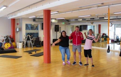 FLYTTER INN: Pauline Semb, Espen Halvorsen og Rita Hagen Knudsen gleder seg alle til å samarbeide til høsten.