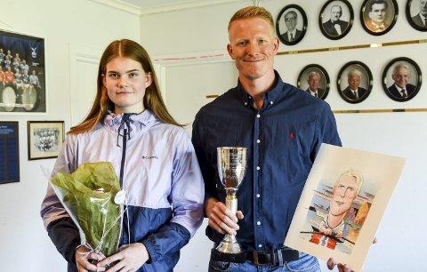HEDRET: Kjetil Borch ble tildelt Lovisapokalen etter VM- og EM-gull samt kongepokal i 2018 mens Henrikke Enstad Haraldseth mottok et stipend på 5.000 kroner fra idrettsrådet.