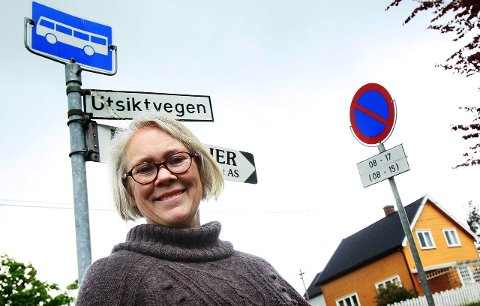 BYHISTORIE: Hun har jobbet for byhistorie i Kongsvinger, og nå blir det byhistorie i Mosjøen. Utsiktsveien var barndomsgata for Kari Sommerseth Jacobsen.