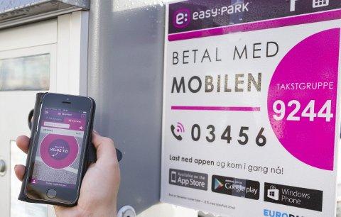 POPULÆR: I Oslo betaler nå halvparten av bilistene parkeringen med mobiltelefonen, men fortsatt skaper GPS-signalene problemer enkelte steder.FOTO: KJELL R. HERMANSEN