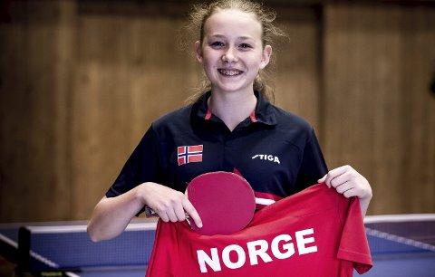 LANDSLAG: Lisa Marie Lange fra Harestua IL bordtennis er uttatt til internasjonale oppgaver for Norge de kommende ukene.