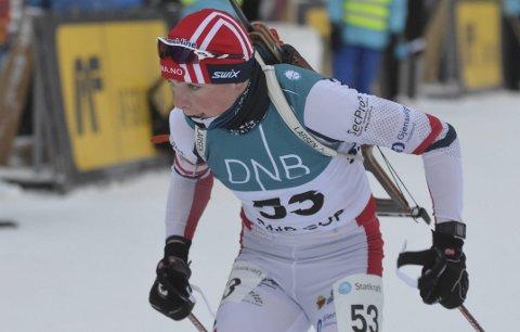 I FORM: Anders Sønsteby Flaagen fra SÅS og Team Lygna skiskyting gikk styggfort i løypa, men bommet litt for mye til at det kunne bli en plassering helt i toppsjiktet.