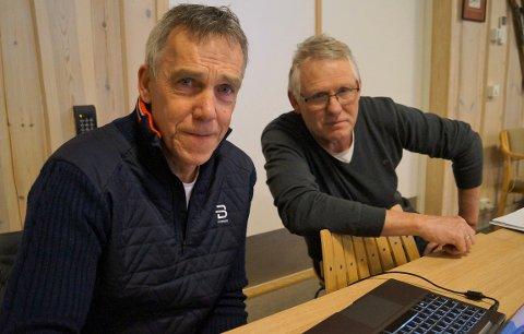MYE RUTINE: Nils Prestkvern (til venstre) og Kjell Erik Gisleberg spiller viktige roller i helgas norgscup på Lygna.