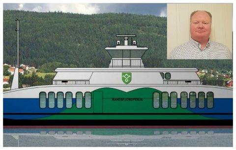 MOMSKRØLL: Det dukker stadig opp flere skjær i sjøen for den nye Randsfjordferja. Nå har det kommet et momskrav på 18 millioner kroner, som fylket mener er helt urimelig.