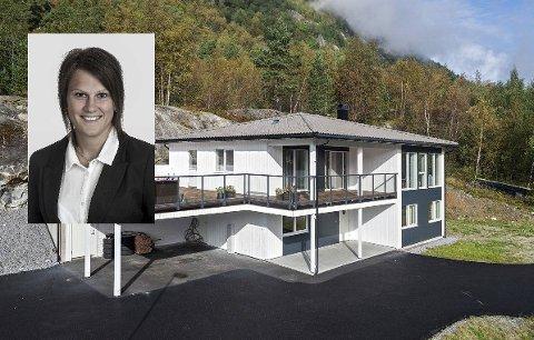 Eidesåsen: Det er sjeldan at så nye hus blir lagt ut for sal i Odda. Foto : Eiendomsmegler Vest