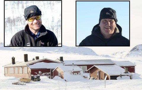 Mårbu turisthytte. Innfelt hyttevertar på Litlos og Sandhaug, Jarle Viskjer og Jan Tyssebotn.