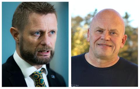 SVARER: Helseminister Bent Høie synes det er trist at Torbjørn Nervik melder seg ut av Høyre.