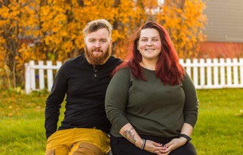 HUSEIERE: Hallvard Skaarstad og Kirsten Harila kjøper sammen for første gang, og er fornøyde med huset på Vadsøya.