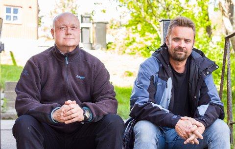 MISTET JOSTEIN TIL KREFT: Bror Halgeir Rushfeldt og kompis Kurt Ivar Amundsen mistet den 14. mai Jostein Rushfeldt som ble bare 50 år gammel. Nå vil de gjøre en siste ting for ham.