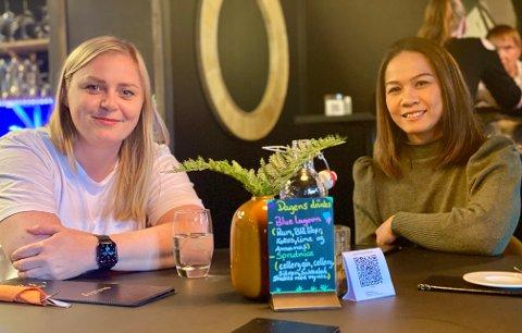FANT TONEN: Olje- og Energiminister Tina Bru (H) og Goi Uttakleiv rakk å bli godt kjent før ministeren spiste middag med Harstad Høyre på Gois restaurant og cocktailbar.