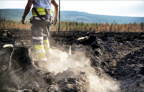 ØKENDE BRANNFARE:  Brannfaren øker for hver dag som går, opplyser brannsjef Rigman Pents i Innherred Brann og Redning på til iLevanger. Han ber nå folk være forsiktige med ild og grill for å unngå skog-, lyng- og gressbrann.
