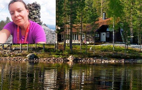 Flere til fjells: Ingunn Våer i Kongsberg og Omegns Turistforening forteller om flere medlemmer og flere overnattinger i sommer. Bildet er fra hytta i Pråmvika.