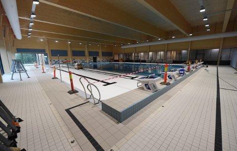 SVØMMEHALL: Slik ser det ut inne i svømmehallen, som snart skal tas i bruk.