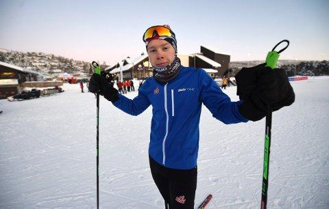 TILBAKE: Peder Fekjan Solheim er tilbake i skiskytterløypa etter langvarig skadeavbrekk hjemmebane. ALLE FOTO: OLE JOHN HOSTVEDT