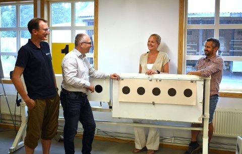 2020 ser ut til å bli mye bedre enn fryktet for Kongsberg Target Systems. Fra venstre: Jo Hellik Aabakken, Ole Rabbevåg, Natanya Sukkot og Kristoffer Gjone.