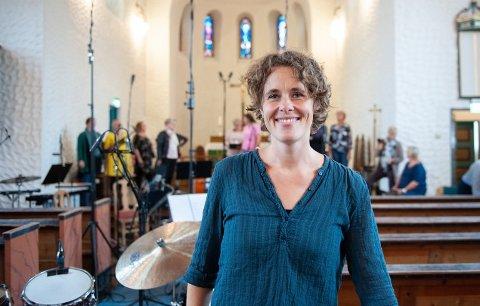 Plateklar: Marianne Beate Kielland og Lofoten Voices under innspillingen av Lofotoratoriet i Svolvær kirke. Nå er plata ute.