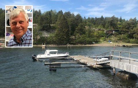PÅ PLASS IGJEN: Takket være smart teknologi kom ikke tyven langt med båten til Håkon Sørum. Her ligger den godt på plass i båsen sin igjen.